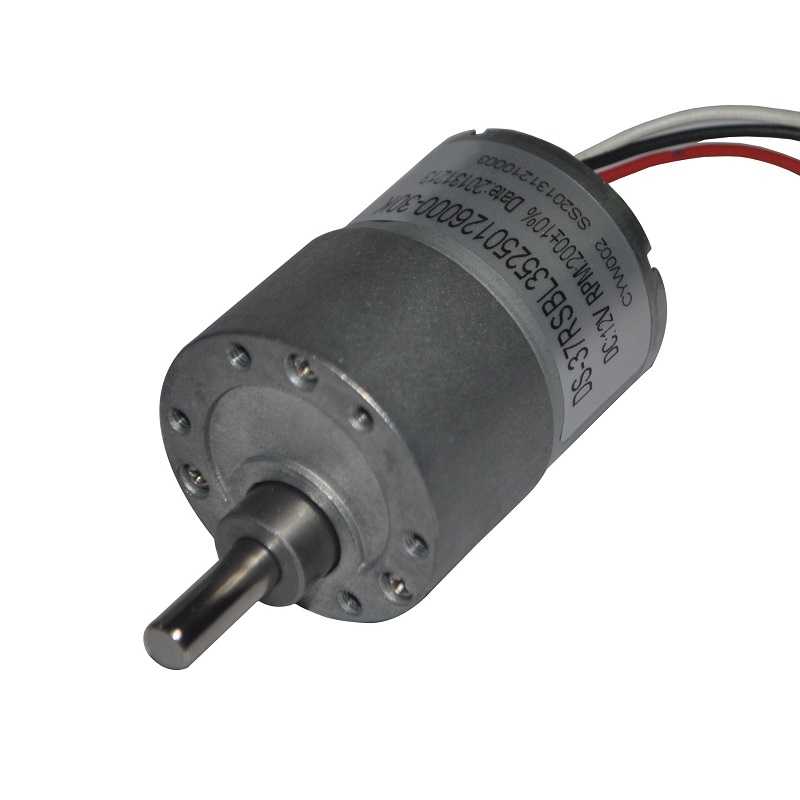 37mm high torque low rpm dc brushless motor with gearbox