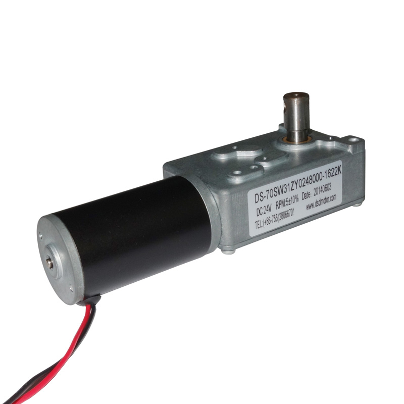 24v right angle dc worm gearmotor 3rpm